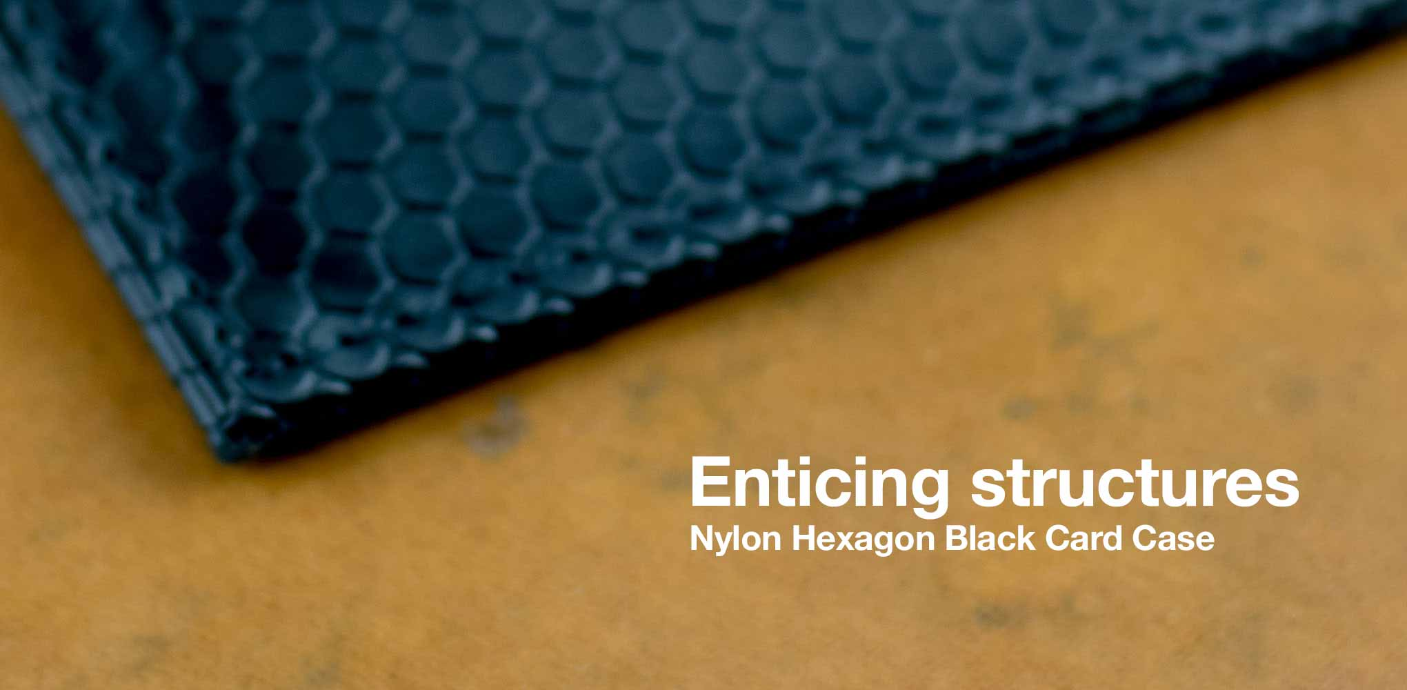 Enticing Structures / Nylon Hexagon Black Card Case