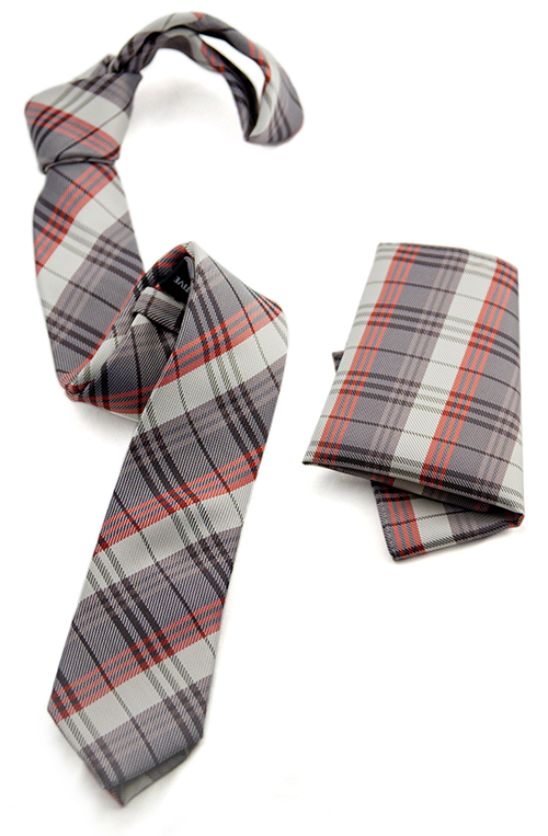 Picnic tie and handkerchief combo