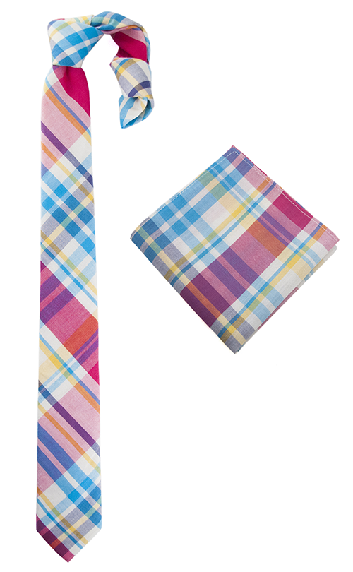 Curacao sling tie and pocket square set
