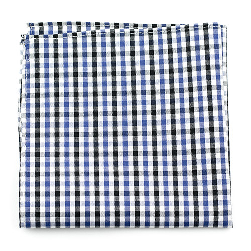 Gingham blues v2 handkerchief