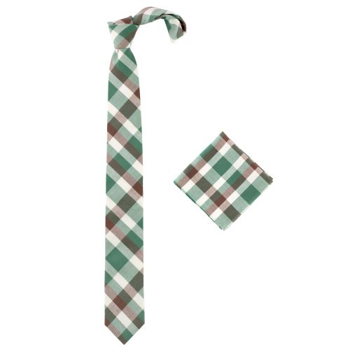 Orion Forrest tie and pocket square set