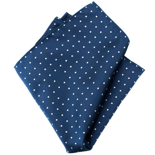 Navy Dots Handkerchief